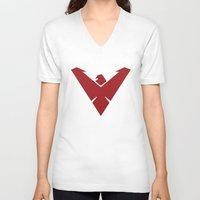 nightwing V-neck T-shirts featuring Nightwing by Levi Allred