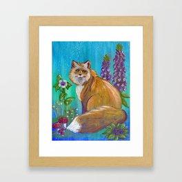 Foxgloves Framed Art Print