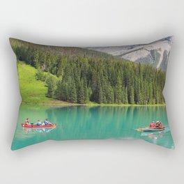 Boats on Emerald Lake Rectangular Pillow