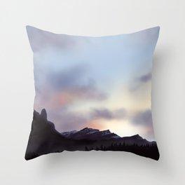 Mountain Skys Throw Pillow