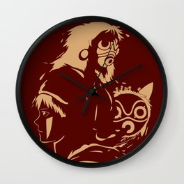 Princess and Her Mask Wall Clock