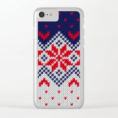 Winter knitted pattern 11 Clear iPhone Case