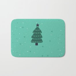 May Your Days Be Merry And Bright Christmas Tree Print Bath Mat