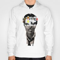 godfather Hoodies featuring Godfather Mix 1 white by Marko Köppe