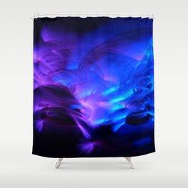 BLUE GLOWSTICKS Shower Curtain
