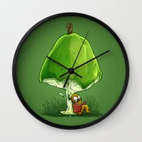 bookworm Wall Clocks featuring BookWorm by Alberto Arni