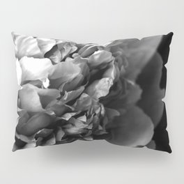 Black and White Summer Peony Pillow Sham