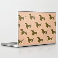 dachshund Laptop & iPad Skins featuring Dachshund by Emma Pennington