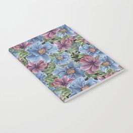 Hibiscus Flowers on Chalkboard Notebook