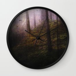 Travelling darkness Wall Clock