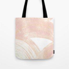 Pink Swipes Tote Bag