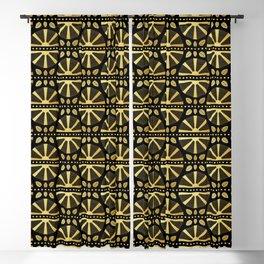 Luxe Art Deco Fan Blackout Curtain