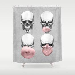 Skulls chewing bubblegum Shower Curtain