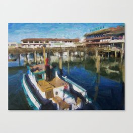 Fishermans Wharf - San Francisco Print No. 134 Canvas Print