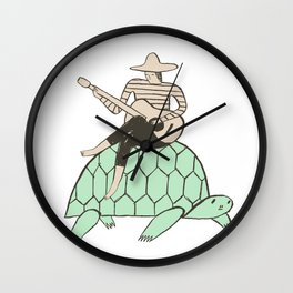 Turtle Man Wall Clock