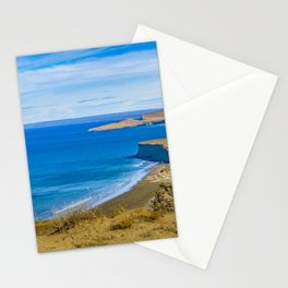 Landscape View from Punta del Marquez Viewpoint, Chubut, Argentina Stationery Cards
