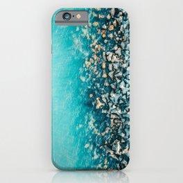 Abstract Turquoise Ocean, Aerial Blue Sea Print, Large Ocean Poster, Coastal Wall Art, Beach Decor iPhone Case