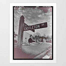 Castleton Drive Art Print