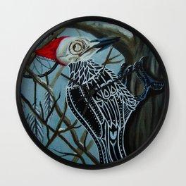 Woodpecker Skull Wall Clock