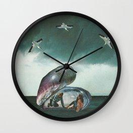 Th birth of love Wall Clock
