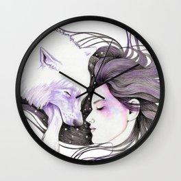 Sleep Like Woves Wall Clock