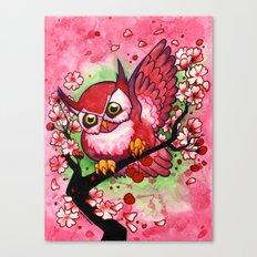 Cherry Owl Canvas Print