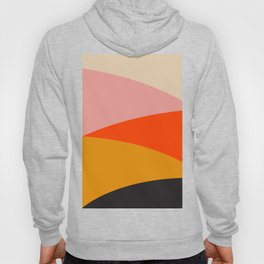 Geometric Sunset Print - art, interior, drawing, decor, design, bauhaus, abstract, decoration, home, Hoody