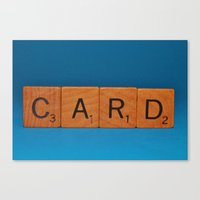 card Canvas Prints featuring Card by Beastie Toyz