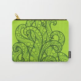 Green Sea Flourishes Carry-All Pouch
