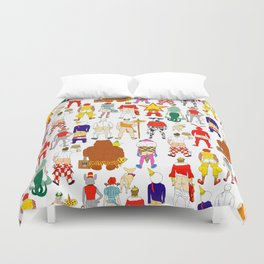 Fast Food Butts Pattern Duvet Cover