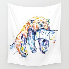 Red Panda - The Long Day Wall Tapestry