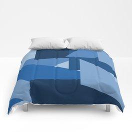 Blu-Geometric Comforters