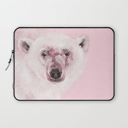 Polar Bear in Pink Laptop Sleeve