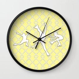Sunbeam Yellow Girls Figure Skating Wall Clock