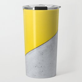 Yellow & Gray Abstract Background Travel Mug