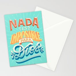 Nothing is impossible to god Stationery Cards