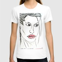 angelina jolie T-shirts featuring ANGELINA JOLIE by JANUARY FROST