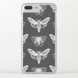 Geometric Moths inverted Clear iPhone Case