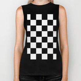 Large Checkered - White and Black Biker Tank