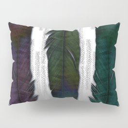 Feathers on silver Pillow Sham