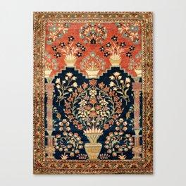Kashan Poshti  Antique Central Persian Rug Print Canvas Print