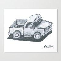 truck Canvas Prints featuring Truck by Stephen Batiz