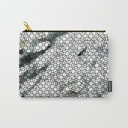 White Marble Abstact Carry-All Pouch
