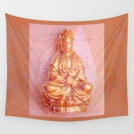 Rose-Bronze Kwan Yin Wall Tapestry