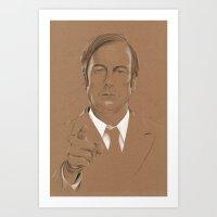 lawyer Art Prints featuring A Criminal Lawyer by Six Pixel Design