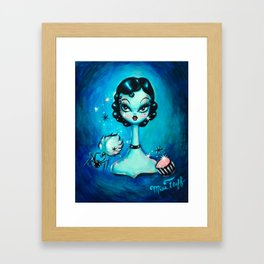 Noir Boudoir Girl - Painted Version Framed Art Print