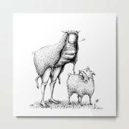 Thumb in Sheep's Clothing Metal Print