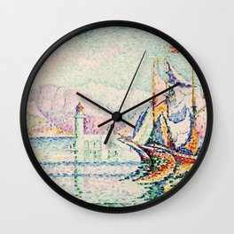 Paul Signac - Antibes - Morning Wall Clock