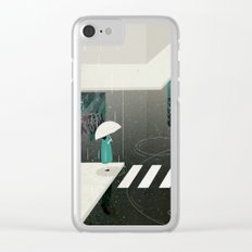 let it rain Clear iPhone Case