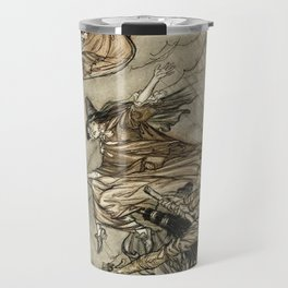 """Four Witches """"Up The Chimney"""" by Arthur Rackam Travel Mug"""